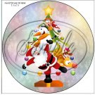 "Santa & Friends  Christmas  Tree ~ 7"" Round Foil Pan Lid Cover"