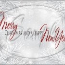 "Silver Holly Berry  Merry Christmas Happy New Year 1 ~ Horizontal  ~ 6"" X 8"" Foil Pan Lid Cover"