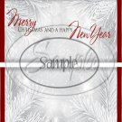 Silver Holly Berry 1 Red Foil  ~ Standard 1.55 oz Candy Bar Wrapper  SOE