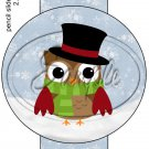 Top Hat Owl ~ Pencil, Straw or Candy Cane Sliders ~ Set of 12