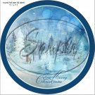 """Woodland Park Merry Christmas ~ 7"""" Round Foil Pan Lid Cover"""