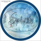 """Woodland Park ~ Christmas    ~ 7"""" Round Foil Pan Lid Cover"""