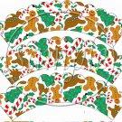Ginger Christmas Scalloped ~ Cupcake Wrappers ~ Set of 1 Dozen