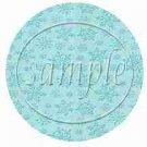 Auqa Snowflake Blank  ~ Cupcake Toppers ~ Set of 1 Dozen
