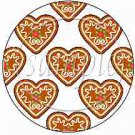 Christmas Heart Cookies Blank ~ Cupcake Toppers ~ Set of 1 Dozen