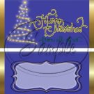 Merry Christmas From All of Us ~ Dark Blue ~ Standard 1.55 oz Candy Bar Wrapper  SOE