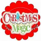 Christmas Magic  Scalloped Red ~ Cupcake Toppers ~ Set of 1 Dozen