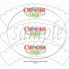 Christmas Magic  Scalloped White ~ Cupcake Wrappers ~ Set of 1 Dozen