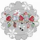 Snowbirds Gray Grey Scalloped ~ Cupcake Toppers ~ Set of 1 Dozen
