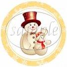 Orange Snowflake Assorted Designs ~ Cupcake Toppers ~ Set of 1 Dozen