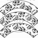 Bunco Dice #2  ~ Cupcake Wrappers ~ Set of 1 Dozen