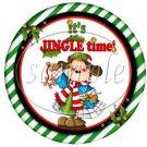 Jingle Time ~ Cupcake Toppers ~ Set of 1 Dozen