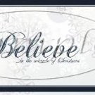 Believe in the Miracle Border ~ Christmas ~  Pint Glass Jar
