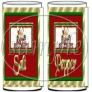 Happy Holidays Santa Claus ~ Salt & Pepper Shaker Covers Wrappers