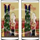 Talking To Santa Gold  ~ Salt & Pepper Shaker Covers Wrappers