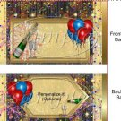 Happy New Year ~ Standard 1.55 oz Candy Bar Wrapper  SOE