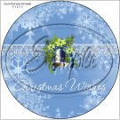 """Baby Blue Snowflake ~ Christmas ~ 7"""" Round Foil Pan Lid Cover"""