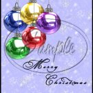 "Merry Christmas Ornaments ~ Vertical  ~ 6"" X 8"" Foil Pan Lid Cover"