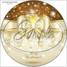 "Gold Christmas ~ 7"" Round Foil Pan Lid Cover"