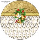 "Gold Christmas Garland ~ 7"" Round Foil Pan Lid Cover"