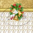 "Gold Christmas Garland ~ Vertical  ~ 6"" X 8"" Foil Pan Lid Cover"