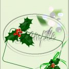 "Seasons Greetings Green Holly~ Christmas   ~ Vertical  ~ 6"" X 8"" Foil Pan Lid Cover"