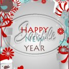 """Snowman Candy Cane Happy New Year 2016   ~ Vertical  ~ 6"""" X 8"""" Foil Pan Lid Cover"""
