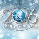 "Aqua Snowflakes Happy New Year 2016   ~ Vertical  ~ 6"" X 8"" Foil Pan Lid Cover"