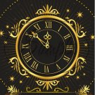 """Clock Happy New Year 2016   ~ Vertical  ~ 6"""" X 8"""" Foil Pan Lid Cover"""