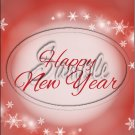 """Red New Year 2016   ~ Vertical  ~ 6"""" X 8"""" Foil Pan Lid Cover"""