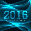 "Black Aqua Waves Snowflakes New Year 2016   ~ Vertical  ~ 6"" X 8"" Foil Pan Lid Cover"