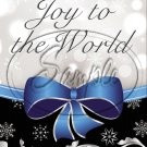 "Joy To The World Blue Ribbon Christmas  ~ Vertical  ~ 6"" X 8"" Foil Pan Lid Cover"