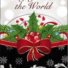 "Joy To The World Red Ribbon Christmas  ~ Vertical  ~ 6"" X 8"" Foil Pan Lid Cover"