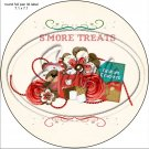 "S'Mores Treats ~ 7"" Round Foil Pan Lid Cover"