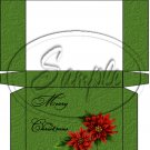 Merry Christmas Poinsettia Green ~  Hershey's Mini Candy Bar 4 Wrapper Box