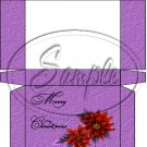 Merry Christmas Poinsettia Purple ~  Hershey's Mini Candy Bar 4 Wrapper Box