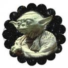 Star Wars Faux Inspired Yoda ~ Scalloped Cupcake Toppers ~ Set of 1 Dozen