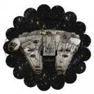 Star Wars Faux Inspired Millennium Falcon ~ Scalloped Cupcake Toppers ~ Set of 1 Dozen