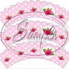 Pink Rose Polka Dot #1 ~Tea Cup Cupcake Wrappers ~ Set of 1 Dozen