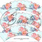 Aqua Rose Lace Tea Party Teacup Cupcake Wrappers ~ Set of 1 Dozen