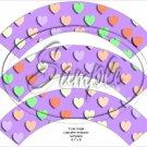 Purple Multi-Colored Conversation Heart ~ Cupcake Wrappers ~ Set of 1 Dozen