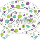 Green & Purple Polka Dot Tea Party ~ Tea Cup Cupcake Wrappers ~ Set of 1 Dozen