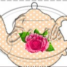Peach Rose Tea Party ~ Teapot Treat Tote