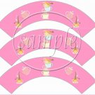 Pink Tea Party ~ Tea Cup Cupcake Wrappers ~ Set of 1 Dozen