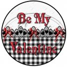 Be My Valentine Black, White & Red  Cupcake Toppers ~ Set of 1 Dozen
