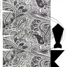 Black & White Paisley Dress Shirt  ~ Pinch Box EACH