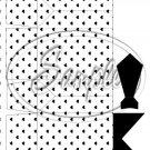Black & White Heart Dress Shirt ~ Pinch Box DOZEN