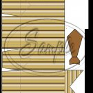 Brown Stripe Dress Shirt  ~ Pinch Box EACH