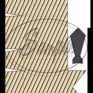 Gray Grey Orange Diagonal Stripe Dress Shirt  ~ Pinch Box EACH