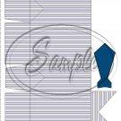 Gray Grey Stripe Dress Shirt ~ Pinch Box DOZEN